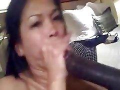 Amateur Asian Blowjob Facial Interracial