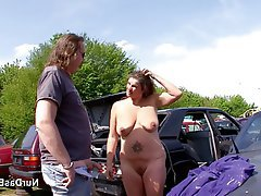 Amateur German MILF Old and Young Outdoor