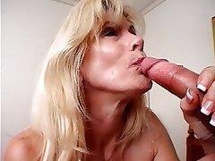 Blowjob Facial Mature Blonde Pantyhose