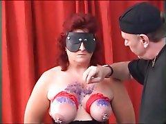 BDSM Mature MILF Piercing Stockings