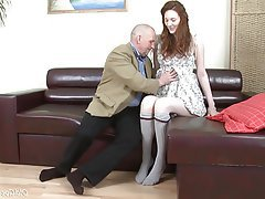 Ass Licking Blowjob Cumshot Old and Young Redhead
