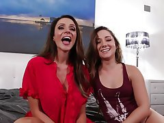 Big Butts Brunette Lesbian Old and Young Pornstar