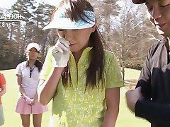 Japanese Teen Blowjob Threesome Brunette