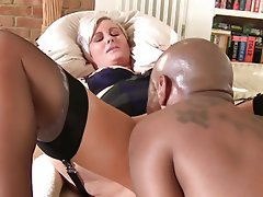 Blonde Hardcore Interracial MILF Old and Young