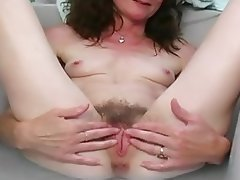 Granny Mature Wife Rubbing Pussy