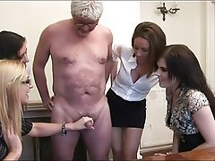 Handjob CFNM MILF Masturbation Old and Young