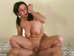 Big Boobs Brunette Cumshot Fucking