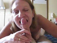 Blowjob Mature POV Granny Wife