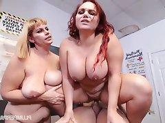 BBW Big Boobs Group Sex Student