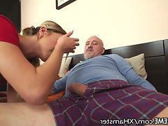 Blowjob Cumshot Teen Old and Young Small Tits