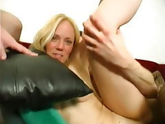 Amateur Blonde MILF French Gangbang
