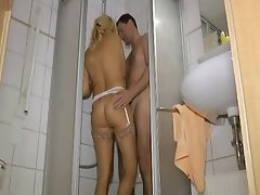 German Mature Old and Young Shower
