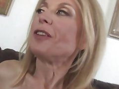 Cumshot MILF Old and Young Pornstar Stockings