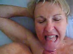 Blowjob Cumshot Mature MILF Old and Young