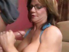Big Boobs Cumshot Handjob MILF Pornstar