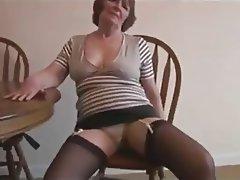 Big Boobs Granny Hairy Masturbation Stockings