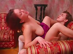 Brunette Mature MILF Old and Young Russian