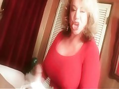 Big Boobs Blonde Granny Handjob Old and Young