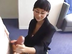 Asian Cumshot Handjob Old and Young Softcore