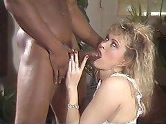 Blowjob Interracial Blonde Lingerie MILF