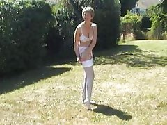 Amateur British Mature MILF Stockings