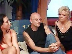 Big Boobs Cumshot German MILF Threesome