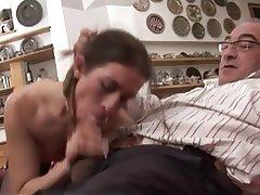 Close Up Cumshot Italian Old and Young Pornstar