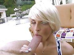 Blonde Blowjob Close Up MILF