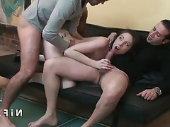 Amateur Double Penetration Emo French Threesome
